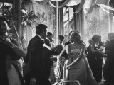 Jane Fonda Dancing at Charity Ball at Waldorf Astoria Premium Photographic Print by Yale Joel