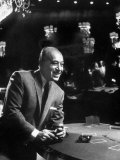 Film Actor George Raft in Capri Casino Premium Photographic Print by Francis Miller