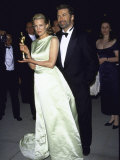 Married Actors Kim Basinger Aand Alec Baldwin at Oscar Party Premium Photographic Print by Mirek Towski
