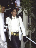 Michael Jackson Attending the Academy Awards Premium Photographic Print by David Mcgough