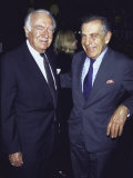 Former Television News Anchor Walter Cronkite and Television Journalist Morley Safer Premium Photographic Print by Marion Curtis