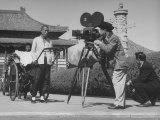 "Cinematographer James Wong Howe on Set of ""Rickshaw Boy"" Premium Photographic Print"