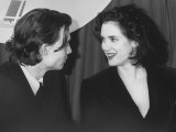 Boyfriend and Girlfriend, Actors Johnny Depp and Winona Ryder Premium Photographic Print by Kevin Winter