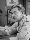 Producer-Director Preston Sturges Working at Office Premium Photographic Print
