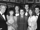Singer Donny Osmond with Family at Opening Night of Broadway Musical &quot;Little Johnny Jones&quot; Reproduction photographique sur papier de qualit&#233; par David Mcgough