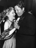 Actress Anne Baxter and Director Orson Welles Attending the Cannes Film Festival Premium Photographic Print