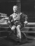 "Actor John Gielgud Portraying Title Role in ""Othello"" at Stratford-Upon-Avon, England Premium Photographic Print"