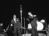 Entertainers Dean Martin and Jerry Lewis Performing Premium Photographic Print
