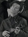 Woody Guthrie Cropped from Group Shot Premium Photographic Print by Gjon Mili