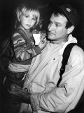 Comedian Robin Williams Carrying Son Zachary Premium Photographic Print
