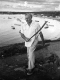 Author Ernest Hemingway Walking in Cojimar Harbor Premium Photographic Print by Alfred Eisenstaedt