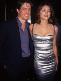 Actors Hugh Grant and Elizabeth Hurley Premium Photographic Print