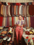 Jimmy Demaret Surrounded by Golf Clothing and Accessories Including Items Sent to Him by Fans Premium Photographic Print by J. R. Eyerman