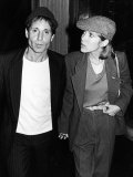 Musician Paul Simon with Longtime Girlfriend, Actress Carrie Fisher, at the Savoy Metal Print by David Mcgough