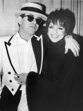 Singers Elton John and Liza Minnelli Backstage at Madison Square Garden before Elton's Performance Premium Photographic Print by David Mcgough