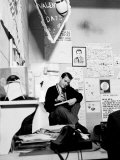 """American Bandstand"" Host Dick Clark on the Phone in His Office Premium Photographic Print"