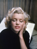 Marilyn Monroe on Patio Outside of Her Home Metal Print by Alfred Eisenstaedt