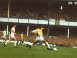 Soccer Star Pele in Action During World Cup Competition Metal Print