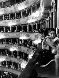 Operagoers Luxuriating in Ornately Elegant Boxes During Intermission at La Scala Opera House Photographic Print by Alfred Eisenstaedt