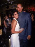 Actress Halle Berry with Husband, Baseball Player David Justice Premium Photographic Print by Dave Allocca