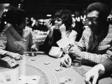 Singer Nancy Wilson, Actress Leslie Uggams, and Comedian Bill Cosby Playing Blackjack at the Sands Premium Photographic Print