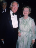 Newscaster Walter Cronkite with His Wife Betsy Premium Photographic Print
