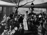 Holding Fashion Show in Bullock's Department Store with Customers Eating Lunch Premium Photographic Print by J. R. Eyerman