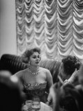 Actress Zsa Zsa Gabor at Prince Aly Khan's Party Premium Photographic Print by Alfred Eisenstaedt
