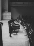 Soviet Pianist, Sviatoslav Richter, on Stage During His Tour Premium Photographic Print