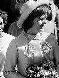 Mrs. John F. Kennedy Visiting India Premium Photographic Print