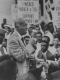 A. Philp Randolph Addressing a Negro Civil Rights Rally Held Outside Gop Convention Premium Photographic Print