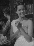 Actress Alida Valli Posing for Photograph Premium Photographic Print by Peter Stackpole