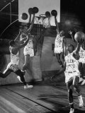 Harlem Globetrotters Playing in a Basketball Game Premium Photographic Print by J. R. Eyerman