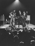 Singer Ricky Nelson and Band During a Performance Metal Print by Ralph Crane