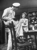 Actors John Randolph and Shirley Booth in Scene from Broadway Play &quot;Come Back, Little Sheba&quot; Premium Photographic Print by Alfred Eisenstaedt
