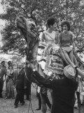 Mrs. John F. Kennedy and Princess Stanislas Radziwill Riding Camel Premium Photographic Print