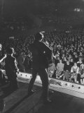 Singer Ricky Nelson and Band During a Performance Premium Photographic Print by Ralph Crane