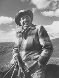 Walter Brennan on His Ranch Premium Photographic Print by J. R. Eyerman