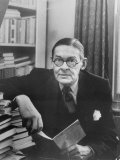Portrait of American-Born Poet and Dramatist T.S. Eliot in His Study Premium Photographic Print by Alfred Eisenstaedt