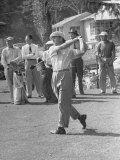 Golfer Ben Hogan, Following Through with His Golf Swing Premium Photographic Print by Loomis Dean