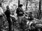 Biologist Author Rachel Carson Holding Camera with Children and Dog in Woods Near Her Home Premium Photographic Print by Alfred Eisenstaedt