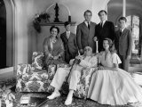 Family Portrait of the Aga Khan Household Premium Photographic Print by Dmitri Kessel