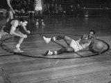 Harlem Globetrotter Marques Haynes Playing a Basketball Game Premium Photographic Print by J. R. Eyerman