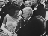 First Lady Jackie Kennedy W. Robert Frost at White House Party for Nobel Prize Winners Premium Photographic Print