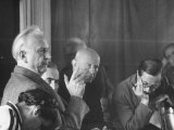 Karl Jaspers and French Socialist Jean Guhenno, During the Geneva Peace Conference of Thought Premium Photographic Print