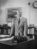 Captain Hyman George Rickover Standing at His Desk Premium Photographic Print