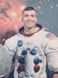 Astronaut Fred Haise in Apollo Spacesuit, Photographic Print