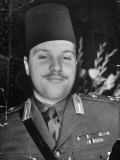 Egyptian King Farouk at His Palace Premium Photographic Print by Margaret Bourke-White