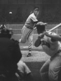 Basball Pitcher Hoyt Wilhelm Pitching Premium Photographic Print