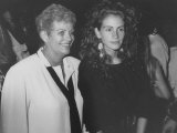 """Actress Julia Roberts and Her Mother Betty Motes at a """"Young Actor's Gang"""" Fundraiser Premium Photographic Print by Kevin Winter"""